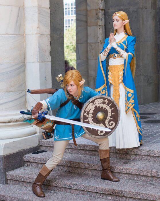 Zelda breath of the Wild Link Cosplay